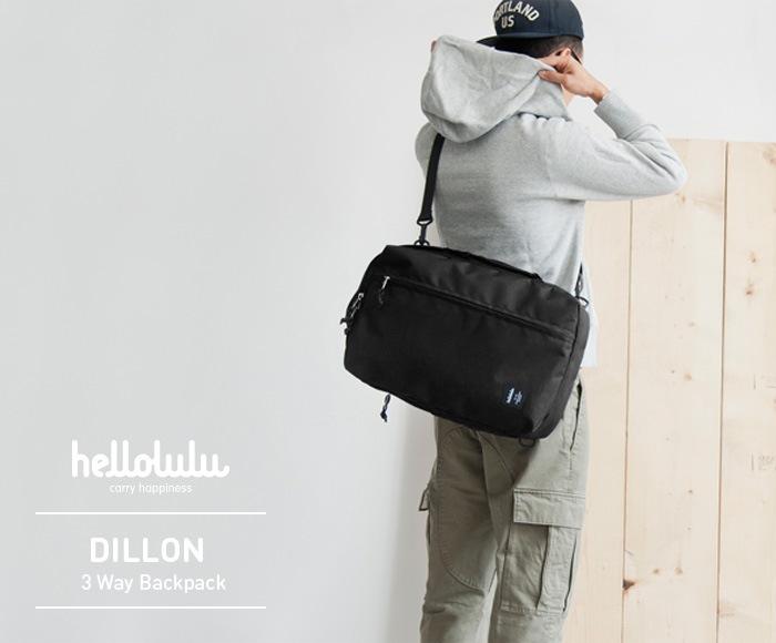 ハロルル/Hellolulu DILLON(ディロン) PC収納付3WAYバックパック