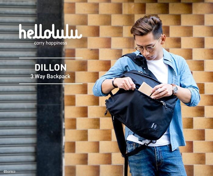 ハロルル/Hellolulu DILLON(ディロン)PC収納付3WAYバックパック