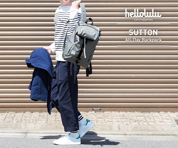 ハロルル/Hellolulu SUTTON(サットン) PC収納付マルチリュックサック