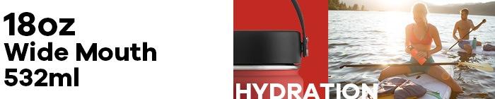 ハイドロフラスク/Hydro Flask 18 oz Wide Mouth ステンレスボトル