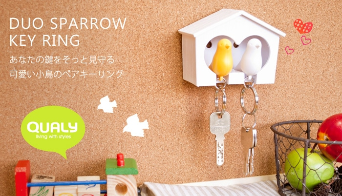 DUO SPARROW KEY RING キーホルダー