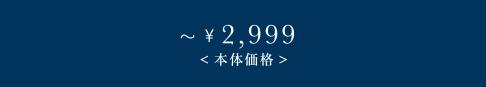 〜\2,999(本体価格)
