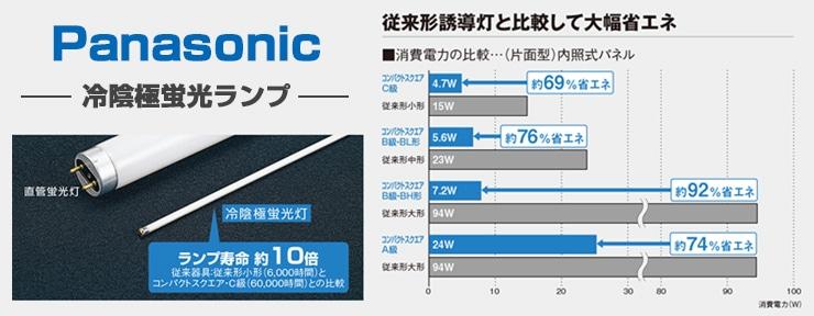 Panasonic(パナソニック)冷陰極蛍光灯誘導灯補修用ランプ一覧表