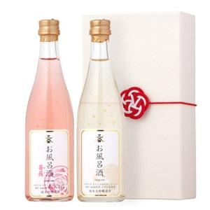 お風呂酒 2本詰めセット(プレミアム純金箔100ml・薔薇100ml)