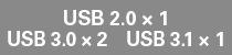 USB2.0x2&3.0x2