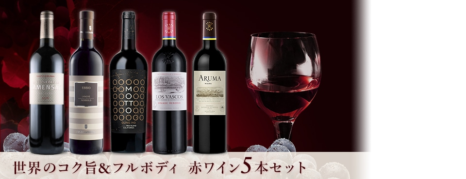 世界のコク旨&フルボディ 赤ワイン5本セット