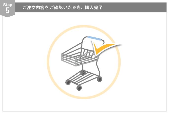 Step5 ご注文内容をご確認いただき、購入完了