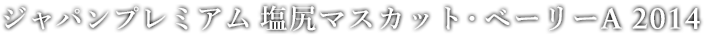 ジャパンプレミアム 塩尻マスカット・ベーリーA 2014