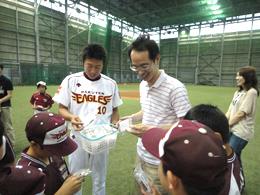 楽天イーグルス野球スクール・チアリーディングスクール訪問