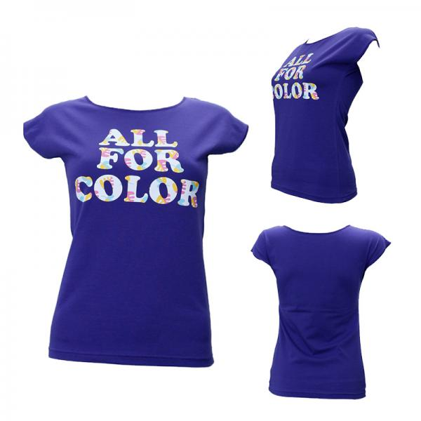 【ALL FOR COLOR】デザインTシャツ フラワーロゴ