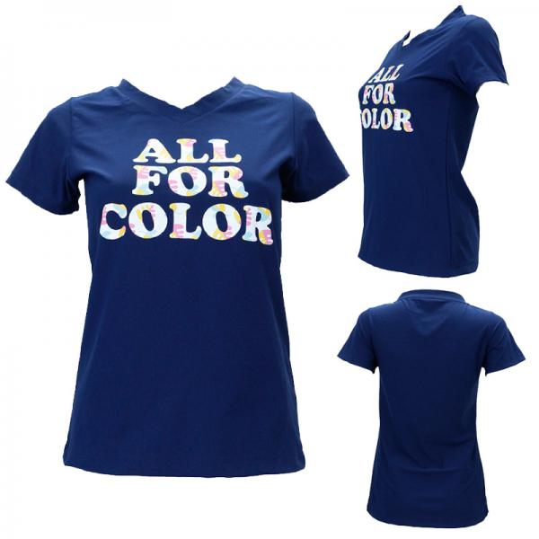 【ALL FOR COLOR】チュニックTシャツ フラワーロゴ