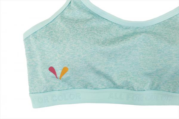 【ALL FOR COLOR】cute&fit bra フィットネスブラ/C.GRN*TRQ