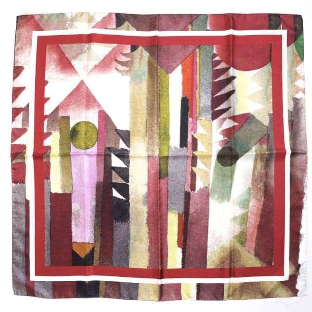 正方形スカーフ ボルドー