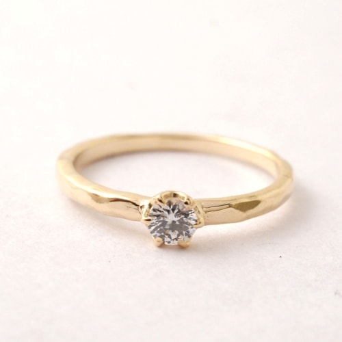 Atease TATAKI ENGAGEMENT RING-18KYG