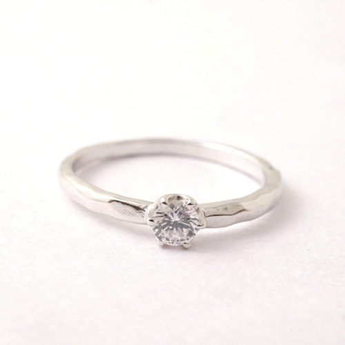 Atease TATAKI ENGAGEMENT RING-PT900