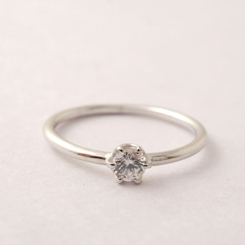 mollive SIMPLE ENGAGEMENT RING-PT900