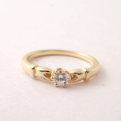 Vantique CLADDAGH ENGAGEMENT RING-18KYG