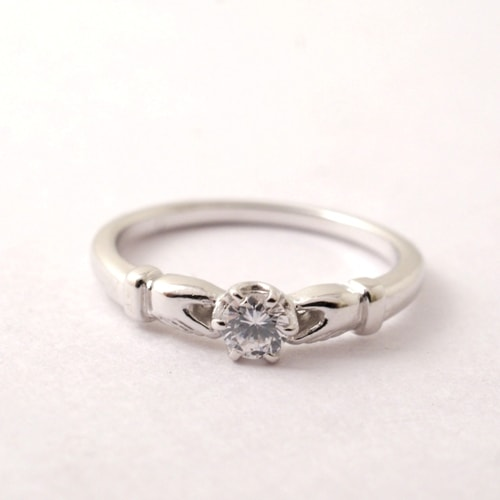 Vantique CLADDAGH ENGAGEMENT RING-PT900