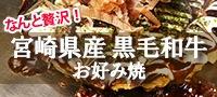 宮崎県産黒毛和牛お好み焼き