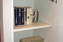 壁面まるごと6列書棚