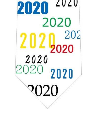2020ネクタイ(カラフル)の写真