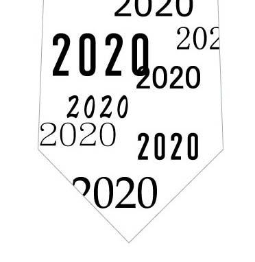 2020ネクタイ(黒文字)の写真