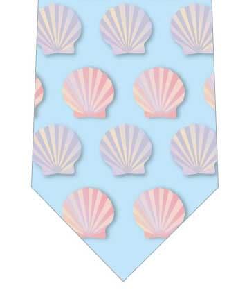 2色の貝殻ネクタイの写真