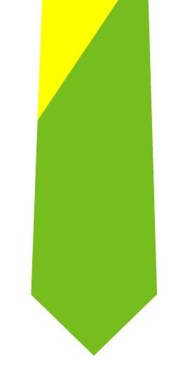 ツートンネクタイ(黄色×黄緑)の写真