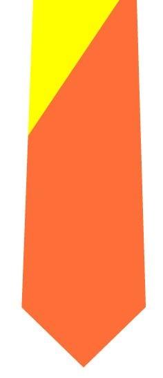 ツートンネクタイ(黄色×橙)の写真