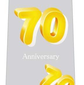 70周年記念ネクタイの写真