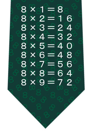 8の段ネクタイ(緑)ネクタイの写真