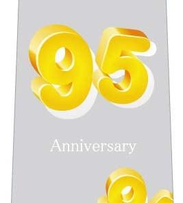 95周年記念ネクタイの写真