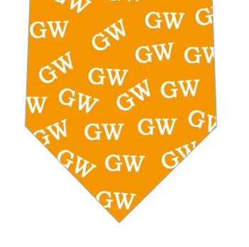 ゴールデンウィークGWネクタイ(オレンジ)の写真