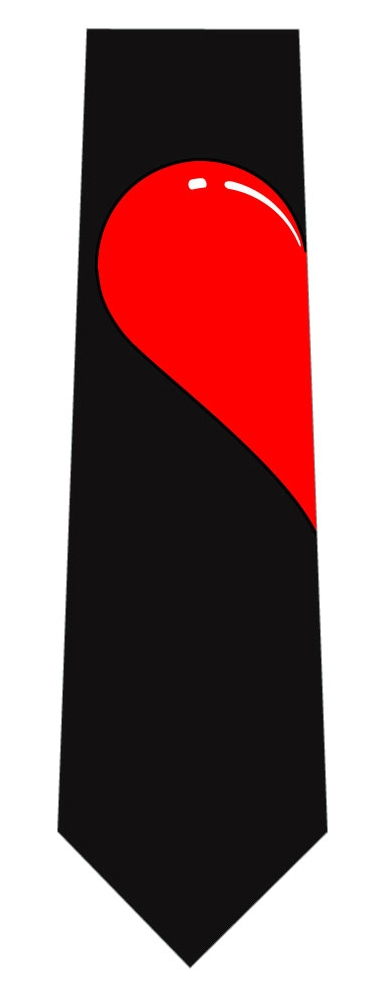 赤ハートネクタイ(左側)の写真