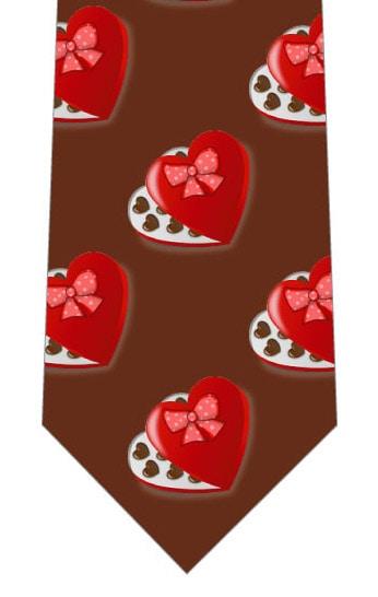 赤い箱のチョコネクタイ(茶色)の写真