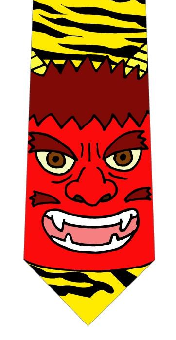 赤鬼ネクタイの写真