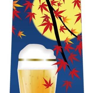 秋のビールネクタイ(お月見)の写真