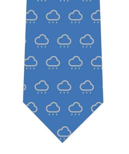 雨雲が並んだネクタイ(紺)の写真
