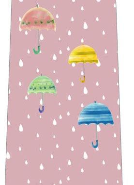 雨と傘ネクタイ(淡いピンク)の写真