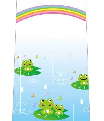 雨を喜ぶカエルネクタイの写真