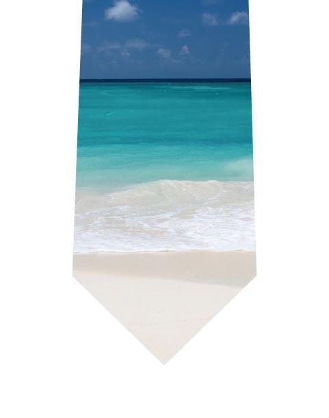 青い海とビーチネクタイの写真