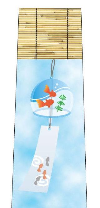 青空と風鈴ネクタイの写真
