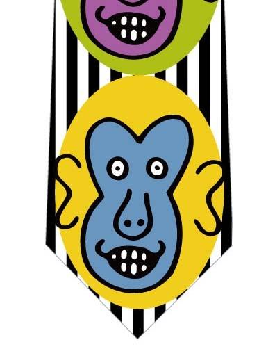 あり得ない色の猿ネクタイ(黒白)の写真