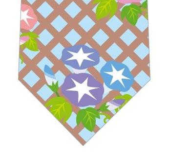 朝顔いっぱい(水色)ネクタイの写真