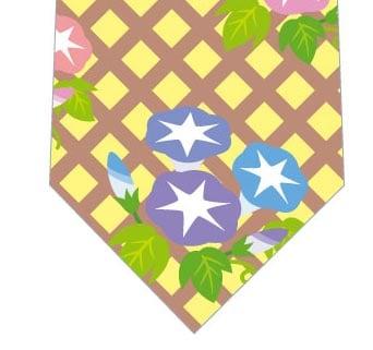 朝顔いっぱい(黄色)ネクタイの写真