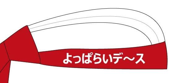 頭にネクタイ(よっぱらいデ〜ス・エンジ)の写真
