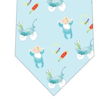 赤ちゃん誕生ネクタイ(水色)の写真