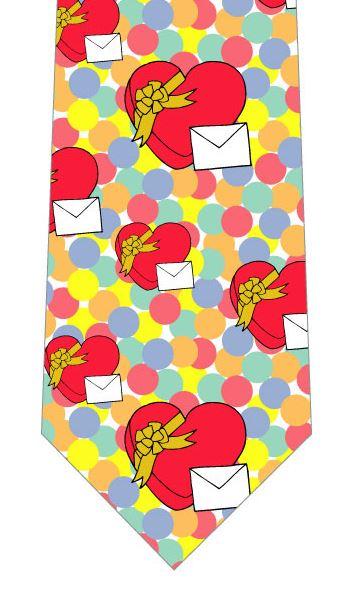 バレンタインネクタイ(お手紙とハートギフト)の写真