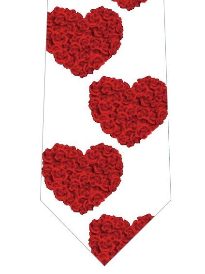 薔薇のハートネクタイの写真