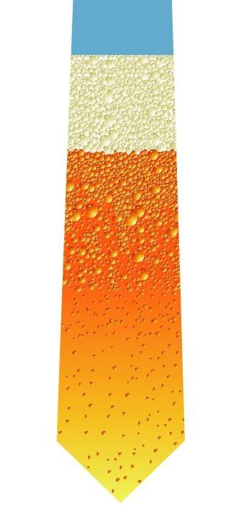 ビールネクタイの写真